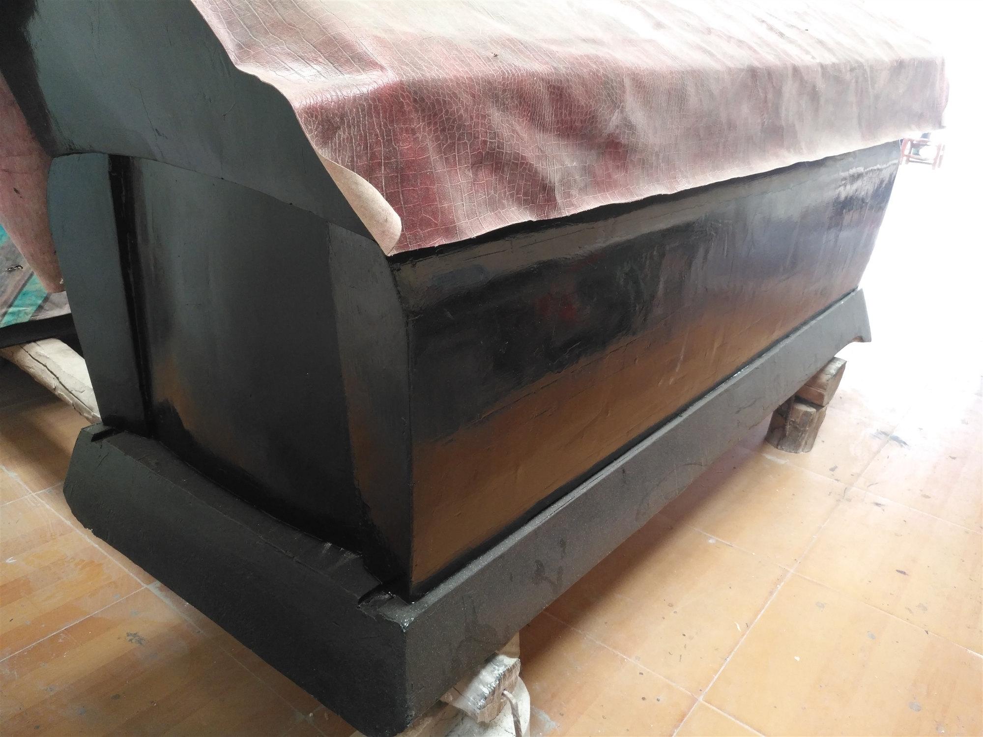 張家界永定區杉木棺材純手工打造棺材銷